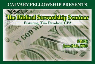 Biblical Stewardship Seminar